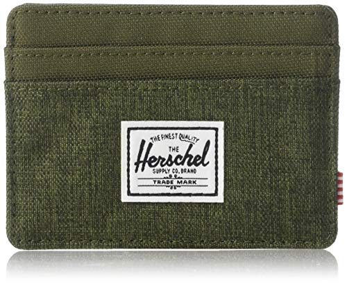 Herschel Charlie RFID Wallet (Olive Night Crosshatch/Olive Night)