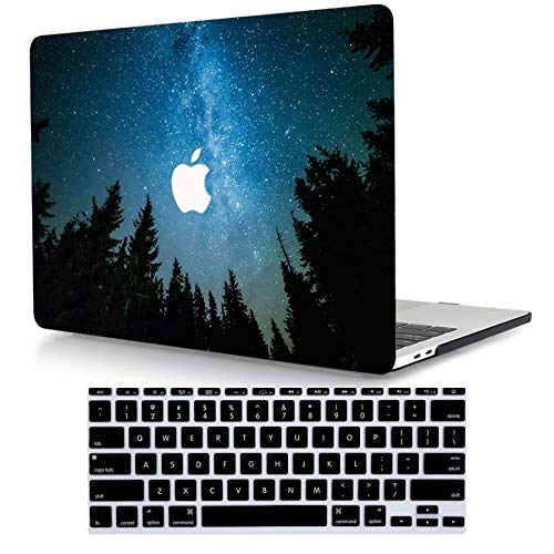 ACJYX Case Only Compatible with MacBook Pro 13 inch with CD-ROM 2012 2011 2010 2009 2008 Release Old Version Model A1278, Protective Plastic Hard Shell Case with Keyboard Cover, Blue Starry Sky 1