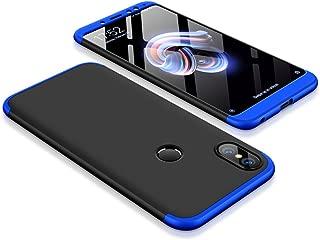 MYLB Xiaomi Redmi Note 5 Case/Redmi Note 5 Pro Case,360 Degree Full Body Coverage Protection [3 in 1] Detachable PC Hard Cover Protective Case for Redmi Note 5/Redmi Note 5 Pro (Black+Blue)