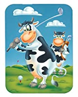 Caroline's Treasures Cow playing Golf Mouse Pad Hot Pad or Trivet Multicolor (APH0535MP) [並行輸入品]