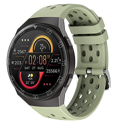 HQPCAHL Smartwatch, Reloj Inteligente Impermeable 67 con Pantalla Táctil Completa, Pulsómetro, Monitor de Sueño, 24 Modos de Deportes, Reloj Deportivo Hombre Mujer para iOS y Android,Verde