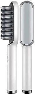 BOQIAN Hårplattång borste, utjämningsborste med antiskållning, utjämningsborste värmebeständig hårplattningskam, 5 justerb...