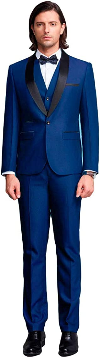 Botong Men's Limited price sale Shawl Lapel 3 Wedding Tuxedos Suits Max 84% OFF Groom Pieces