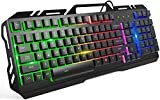 Afranker Gaming Keyboard with 104 Keys, USB Wired Keyboard