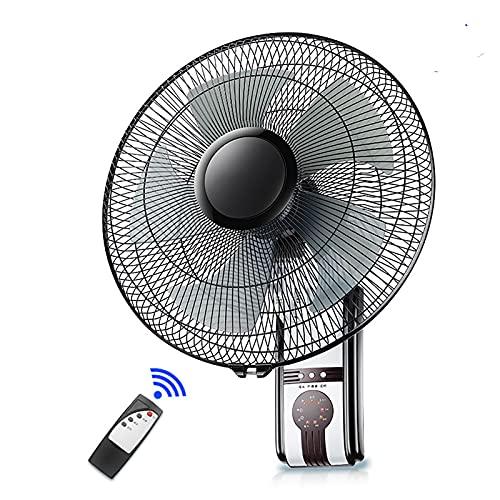 BDFS Ventiladores de Montaje En Pared, Ventilador de Pared de Refrigeración de Metal, Ventilador Oscilante de 120 Grados con Control Remoto, Ventilador Eléctrico Industrial de Servicio Pesado de 60 W
