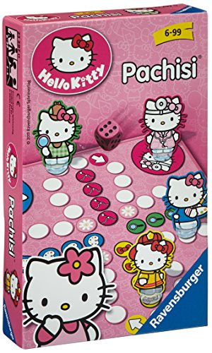 Ravensburger - 23297 - Jeu de société - Jeu de voyage - Hello Kitty - Les Petits Chevaux