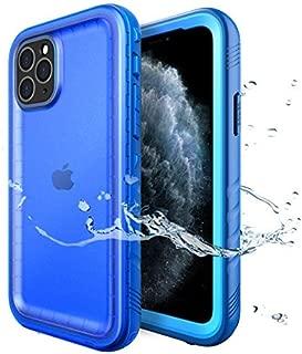 SPORTLINK Funda impermeable para iPhone 11 Pro MAX con protector de pantalla integrado, sellada para todo el cuerpo para una funda resistente bajo el agua para iPhone 11 Pro MAX 2019 lanzado a 6.5 pulgadas (azul)