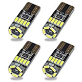 Safego 4x T10 W5W Wedge 194 168 LED Bombillas 15SMD 4014 Luz Interior del Coche Laterales Blanco Xenon 2825 192 158 6500K 12V
