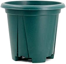 LJBH Root Pot Resin Flower Pot, Plastic Breathable Drainage, Rooting Pot And Fleshy Flower Pot, Exquisite workmanship, sturdy and durable (Color : Green, Size : B-24cm)