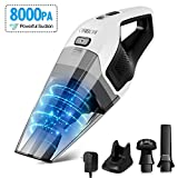 GOOVI by ONSON Handheld Vacuum, Hand Vacuum Cleaner Cordless with 14.8V Li-ion Battery, 8Kpa Powerful Rechargeable Wet Dry Vacuum for Cars, Furniture Stairs and Pet Hairs