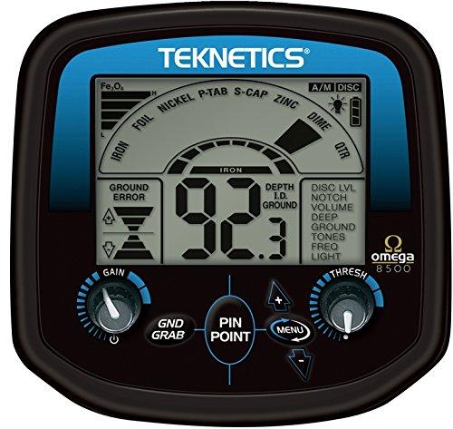 Teknetics Detector de Metales Omega 8500, con luz en la Pantalla