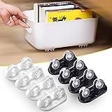 [Paquete de 8] Ruedas para transportar muebles pequeños | La polea se instala en la parte inferior de la caja de almacenamiento | Se puede utilizar para la caja de almacenamiento de muebles