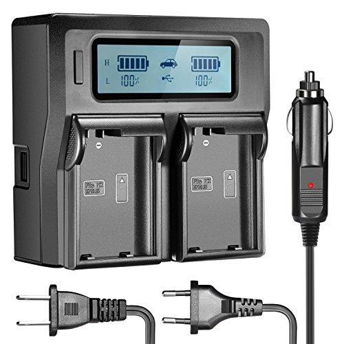 Neewer Dual LCD Battery Charger for Nikon EN-EL15 Batteries Compatible with Nikon DSLR D810, D750,D7200,D7100,D7000, D800E, D800, D610, D600, Nikon 1 V1 Digital Cameras(US/EU Plug/Car Charger Adpater)