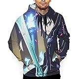 hgbygvuy Character Novetly Unisex Custom Sweatshirt,Sword Art  Online 3D Digital Printed Hoodie