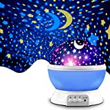 Star Projector, MOKOQI Night Light Lamp Fun Birthday Gifts for 1-4-6-14 Year Old Girls and Boys Kids Bedroom Decor -Blue