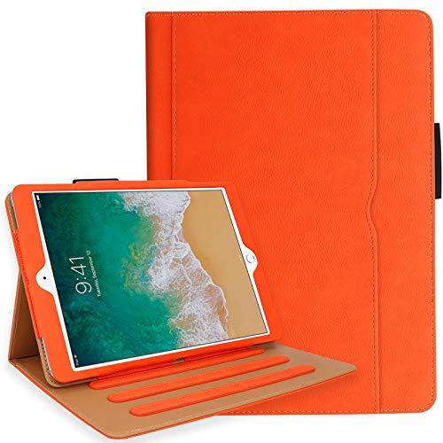 iPad 10.2 Case 2020, iPad 8th Generation Case with Pencil Holder - Multi-Angle Stand, Hand Strap, Auto Sleep/Wake for iPad 8th Generation, iPad 10.2 inch 2020(Orange)