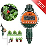 Fixkit Automatic Watering Timer Programmer, New Version Watering Timer, Waterproof LCD Display, Automatic