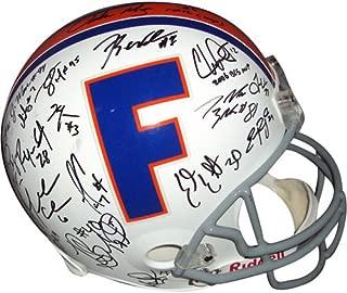 2006 Florida Gators National Championship Team and Urban Meyer Autographed Florida Gators (Throwback) Deluxe Replica Helmet - 44 Signatures