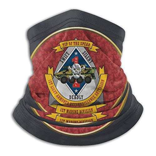 Mengghy 3rd Light Armored Batallón de Reconocimiento Unisex Multifuncional a prueba de polvo Mas-k Máscara de microfibra para el cuello, calentador de cuello, bufanda, pasamontañas