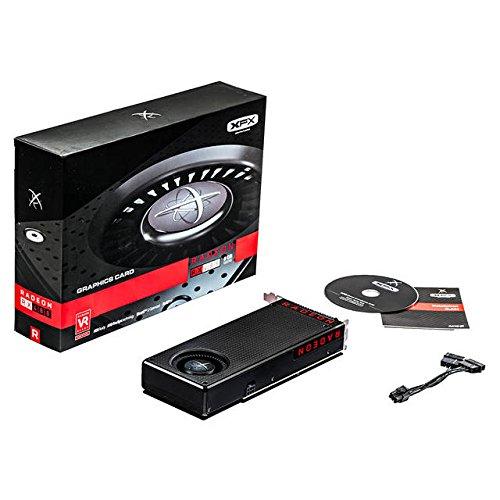 XFX RX-480M8BFA6 Radeon RX 480 8GB GDDR5 - Tarjeta gráfica (AMD, Radeon RX 480, 4096 x 2160 Pixeles, 1288 MHz)