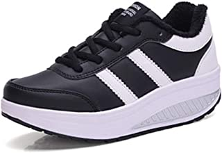 Women's Warm Shaking Shoes Thick Bottom Sneakers Increased Casual Shoes