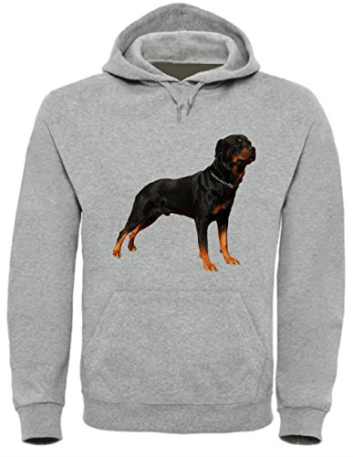 Rottweiler Dog Funny Mens & Ladies / Herren & Damen Unisex Hooded Pullover (L
