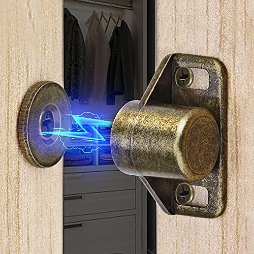 Cabinet Magnetic Catch ZUONAI 6 Pack Kitchen Cabinet Magnets for Closure Closet Door Magnetic Catch Strong Drawer Magnet Cabinet Latch for Kitchen Cupboard Closer Door Closing Bronze