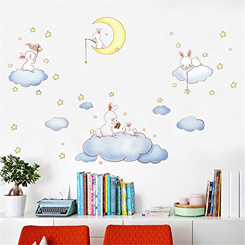 Gaoqi Etiqueta de la Pared extraíble de Animales de Dibujos Animados de Bricolaje Etiqueta de hogar Familiar Arte Mural Decoración del hogar