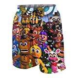 Children Five Nights at Freddy's Bear 3D Print Shorts Surfing Casual Board Shorts Swim Trunk Quick Dry for Boys/Girls White