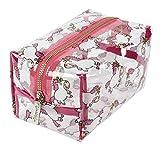 Vivid Hue - Bolsa de maquillaje transparente para mujer, bolsa de cosméticos grande, PVC, bolsa de viaje