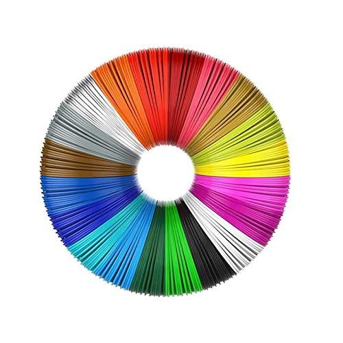 filamenti penna 3d,Filamento PCL,Filamento 3D Ecologico,Filamento per Stampante 3D PLA,3D Pen refills,Filament for 3D (20 colori, 5 metri per colore)