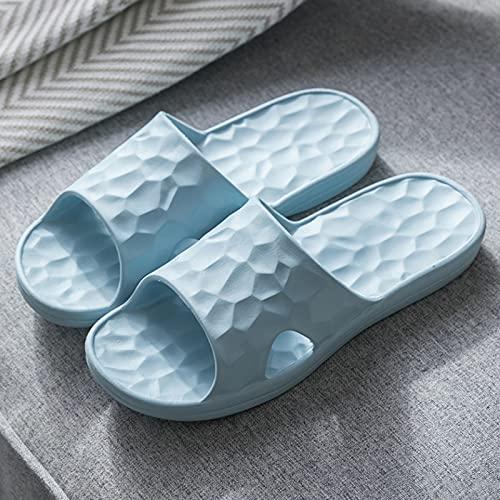 Zapatillas de estar por casa, Zapatillas Para Mujeres, Zapatillas De Baño Antideslizantes Zapatos De Verano Súper Suave Buena Resiliencia Diapositivas De Secado Rápido Zapatilla(Size:35-36,Color:Azul)