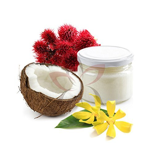 CAPILYA BIO 250ml (mélange d'huile de coco, d'huile de ricin et d'ylang ylang) facile a appliquer