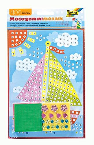 folia 23806 - Moosgummi Mosaikbild Schiff, 405 Teile