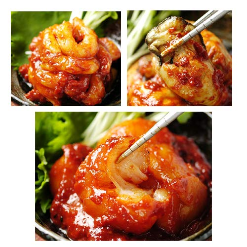 キムチ名人 金基福の海鮮キムチ完璧セット(ホタテ貝柱キムチ300g、蒸牡蠣キムチ300g、甘エビキムチ200g)冷凍便【送料無料】