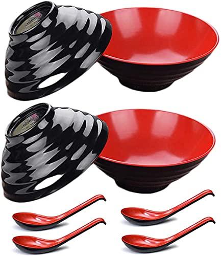 4 juegos de (8 piezas) tazón ralentizados, adecuados para sopa italiana roaf melamina japonesa de plástico duro de plástico italiano asia pho, wen