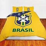 Brasilianisches Fußball Team Doppelbettdecke Bettwäsche Set