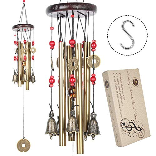 Traditionelle Chinesische Amazing Bronze Yard Garten Outdoor Living Wind Chimes 60–90 cm