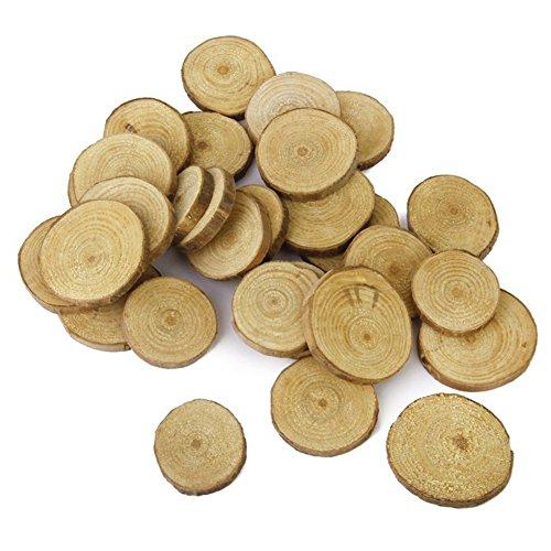 Baalaa Discos de madera para troncos, 30 unidades, 3-4 cm, para manualidades y centros de mesa de boda