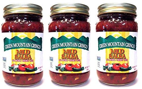 Green Mountain Gringo All Natural Salsas: Mild (Pack of 3) 16 oz Jars
