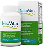 NeoVitin Multivitamin / Multimineral with Turmeric Root Extract, Asian Ginseng, Vitamin D3, Vitamin B6, Vitamin D, Calcium, L-Carnitine and Green Tea Extract (60 Count) (30 Day Supply)