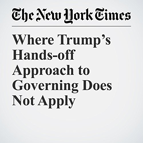 Where Trump's Hands-off Approach to Governing Does Not Apply copertina