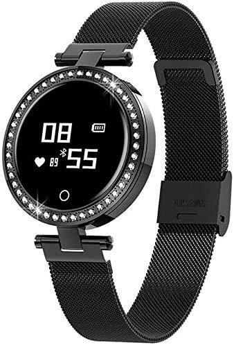 WXDP Reloj electronico,Relojes Shop Inteligente, frecuencia cardíaca Continua, Pulsera de monitoreo de presión Arterial Ip68, Impermeable, Inteligente, Moda Femenina,