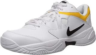 Men's Court Lite 2 Sneaker, Black-White-University Gold, 10 Regular US