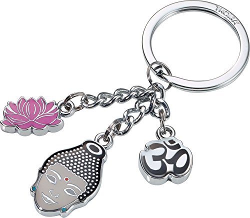 Schlüsselanhänger Buddha Mindful von TROIKA mit Lotusblüte, das Geschenk für Achtsamkeit und Yoga