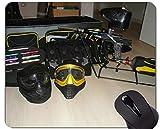 Cojín de ratón Personalizado, Armas municiones Paintball Personalizado rectángulo Juegos Alfombrillas de ratón