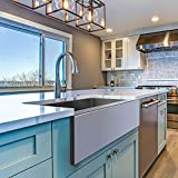 MENSARJOR 30 x 20 Inches Apron Farmhouse Single Bowl 16 Gauge Stainless Steel Kitchen Sink (30' X 20' X 10')