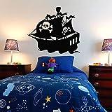guijiumai Pirate Ship Wall Decal Sticker Chambre Pirate Ship décor décalcomanies Rhum trésor Gold...