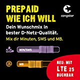 congstar Prepaid wie ich will [SIM, Micro-SIM und Nano-SIM] - Dein Wunschmix in guter D-Netz Qualität inkl. 10 EUR Startguthaben. Mix dir Allnet-Minuten, SMS und MB so...