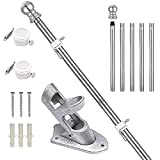 Aobrodzo Flag Pole for House, 6 FT Flagpole Kit, Stainless Steel Flag Pole with Holder Mounting Bracket for Outside,...